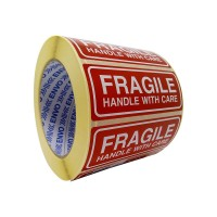 1000 Fragile uzlīmes Handle with care uzlīmes 90x35 mm