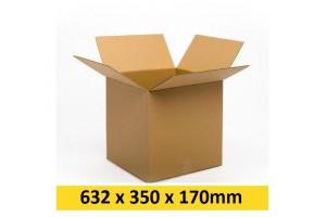 Kartona kaste 632x350x170 mm (Omniva - M )