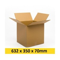Kartona kaste 632x350x70 mm (Omniva - S )