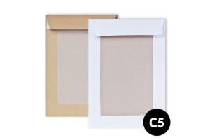 Papīra Aploksne C5 HK ar kartona muguru 162X229mm balta vai brūna