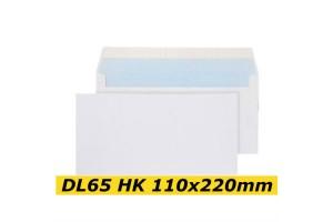Papīra Aploksne DL65 HK 110x220mm balta