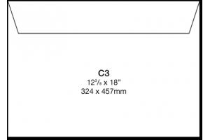 Papīra Aploksne C3 / A3 HK 324x458mm balta
