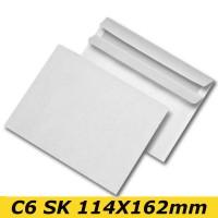 Papīra Aploksne C6 HK 114X162mm balta
