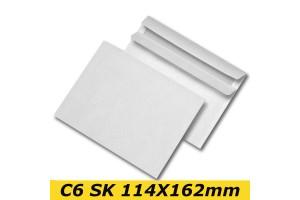 Papīra Aploksne C6 SK 114X162mm balta