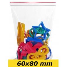 Zip Lock maisiņi 60 x 80 mm - 1000gab.