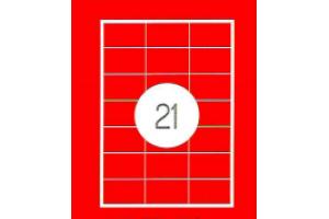 Adrešu Uzlīmes 70x42.3 mm  21gab. uzlīmes 100lpp. baltas [2100 Uzlīmes]