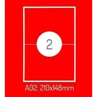 Adrešu Uzlīmes 210 x 148 mm 2gab. uzlīmes 100lpp. baltas [200 Uzlīmes]