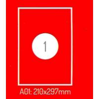 Adrešu Uzlīmes 210 x 297 mm 1gab. uzlīmes 100lpp. baltas [100 Uzlīmes]