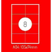 Adrešu Uzlīmes 105 x 74 mm 8gab. uzlīmes 100lpp. baltas [800 Uzlīmes]