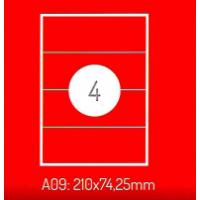 Adrešu Uzlīmes 210 x 74 mm 4gab. uzlīmes 100lpp. baltas [400 Uzlīmes]