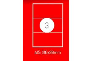 Adrešu Uzlīmes 210 x 99 mm 3gab. uzlīmes 100lpp. baltas [300 Uzlīmes]