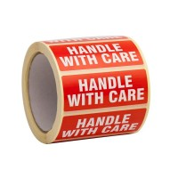 500 Handle with care uzlīmes Izmērs 90x35 mm